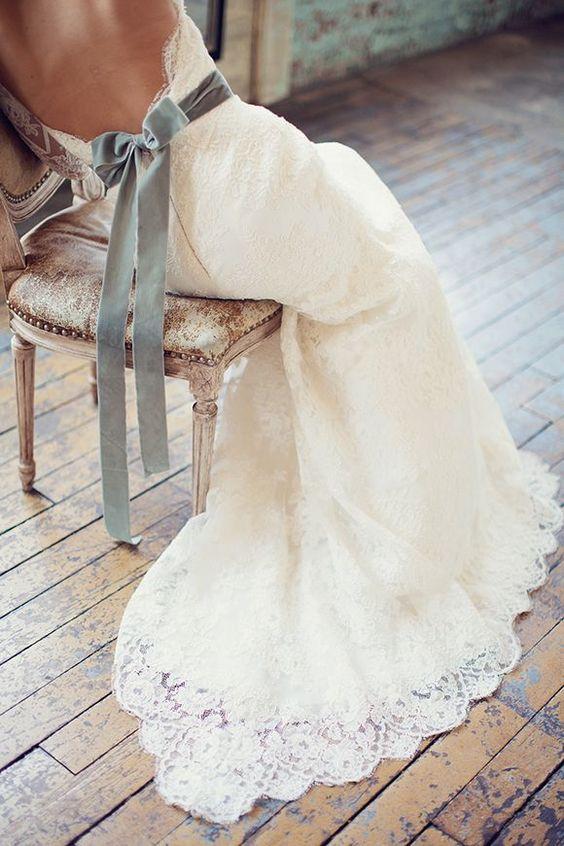 vestido novia lazo terciopelo