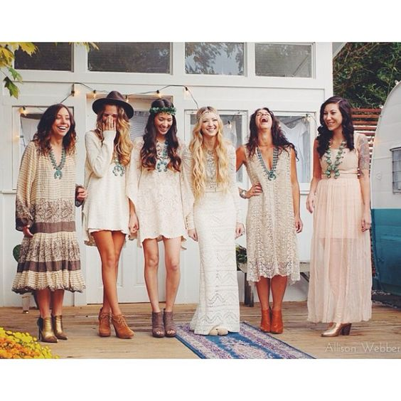 damas de honor boho