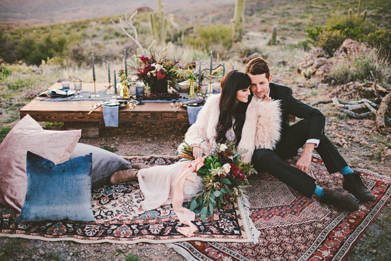 bohemian desert wedding love