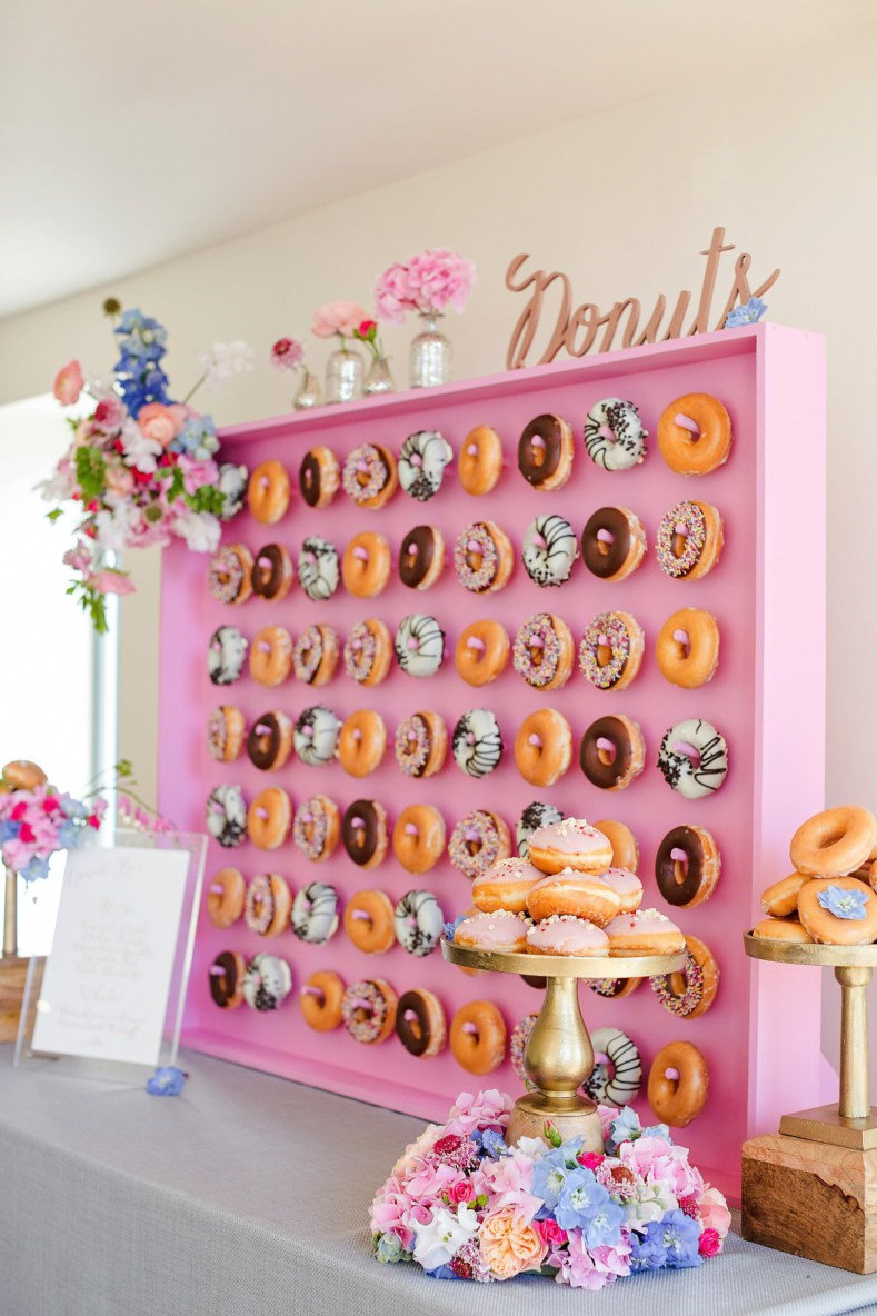 donuts walls wedding