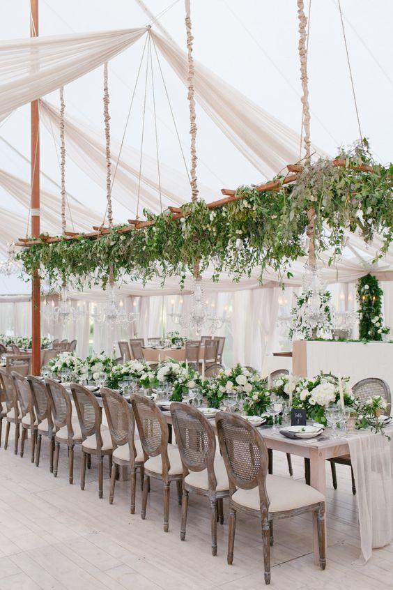 hanging centerpieces weddings