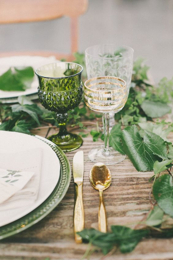 decoracion boda verde pantone