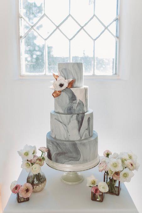 pastel boda marmol
