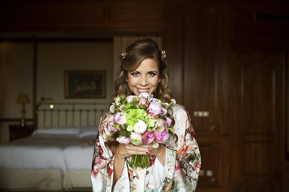 ramo novia hortensias ranunculos