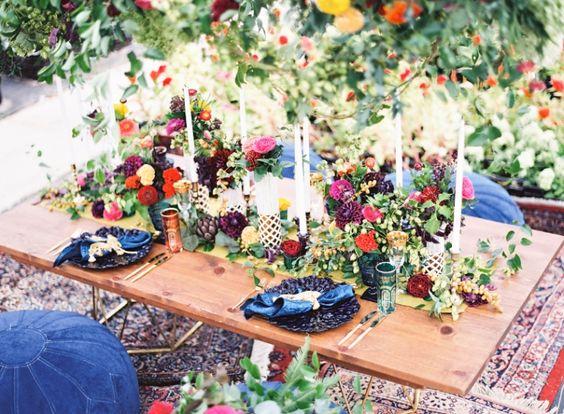 mesa boda color