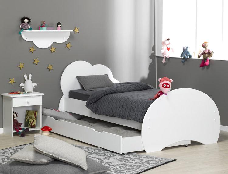 cama juvenil forma nube livingo
