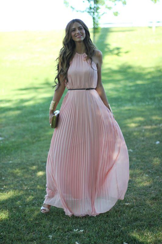 vestido plisado invitada boda