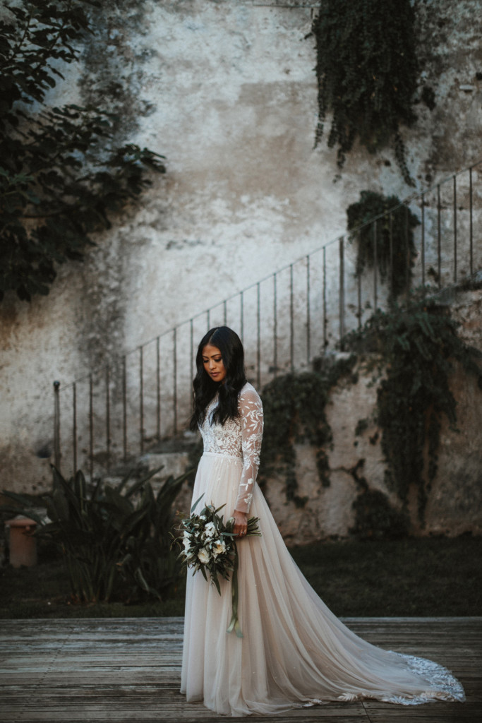 novia manga larga