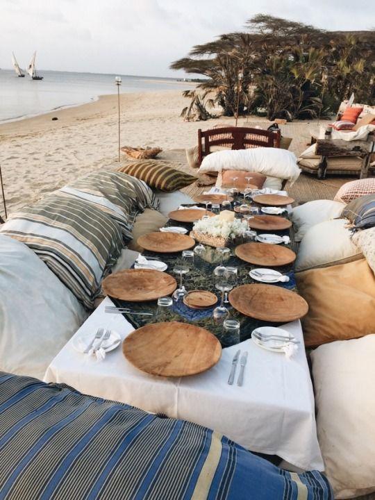mesas boda playa