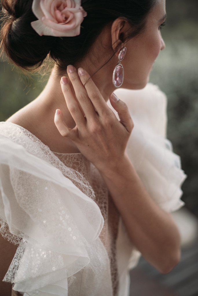pendientes novia largos Navas Joyeros