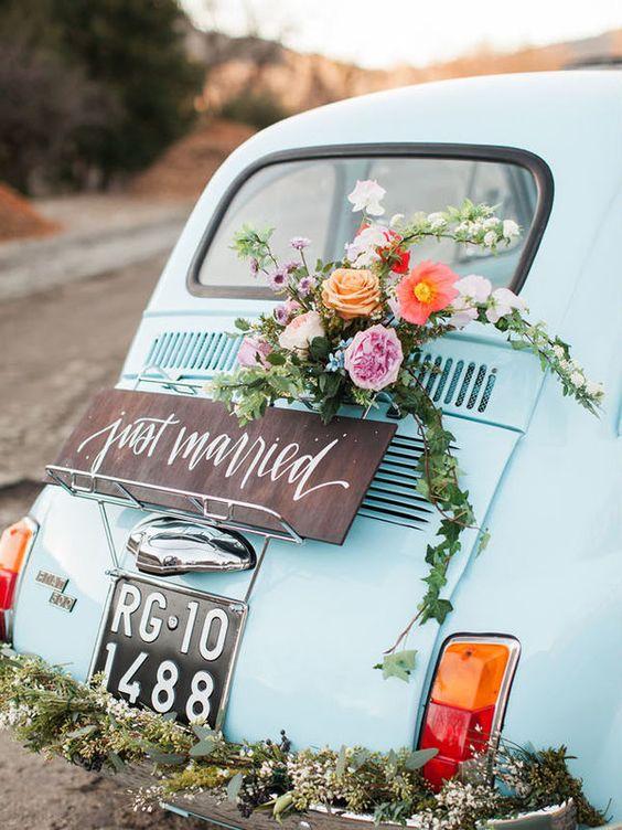 decoracion coche boda