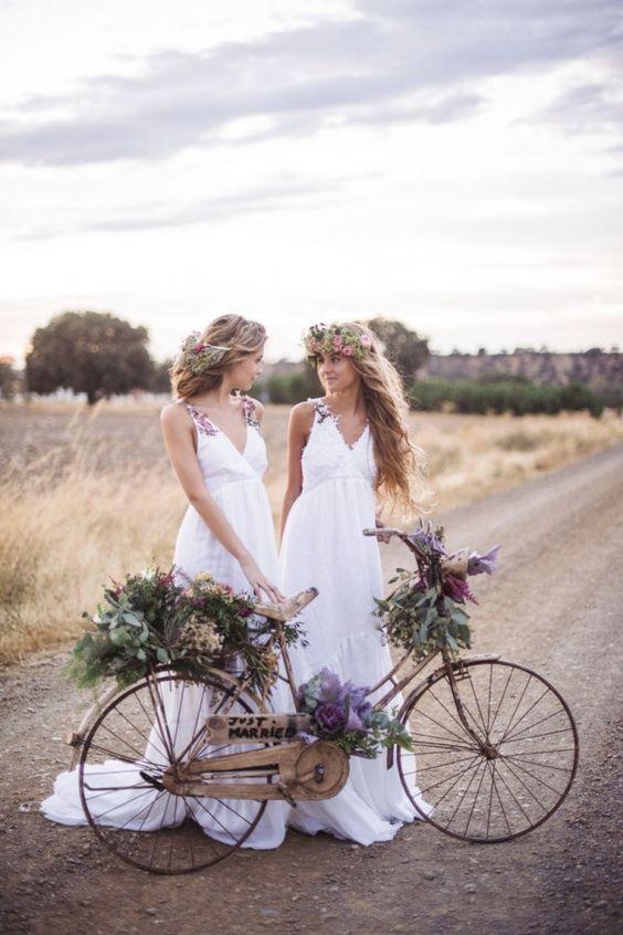 decorar bicicleta boda