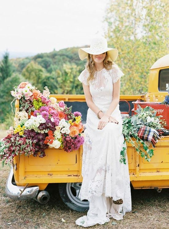 camion transporte boda campestre
