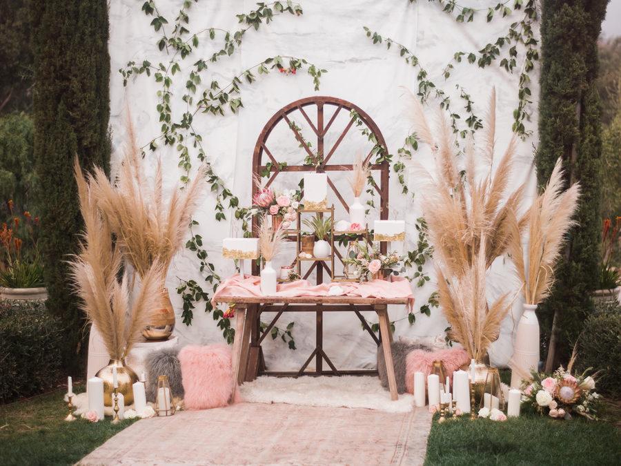 pampa tendecia decoracion bodas
