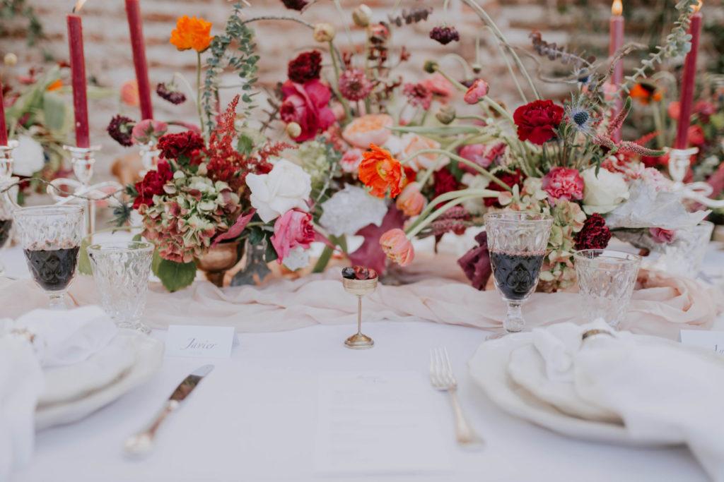 decoracion boda burgundy