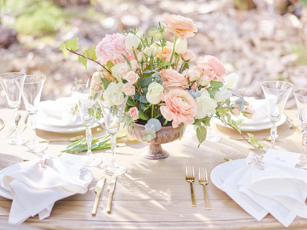 decoracion mesa bodas living coral pantone