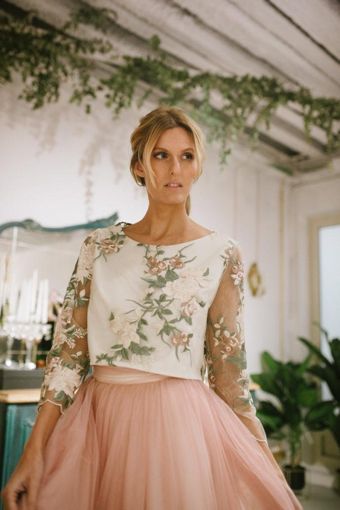 vestido de novia dos piezas