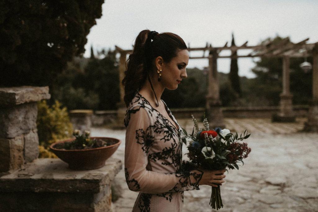 novia con coleta