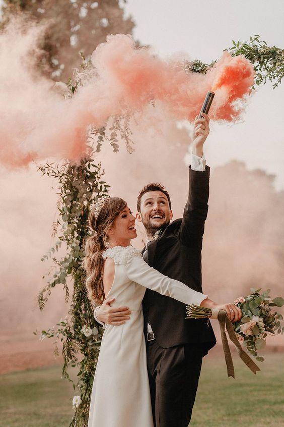 humo de colores para fotos