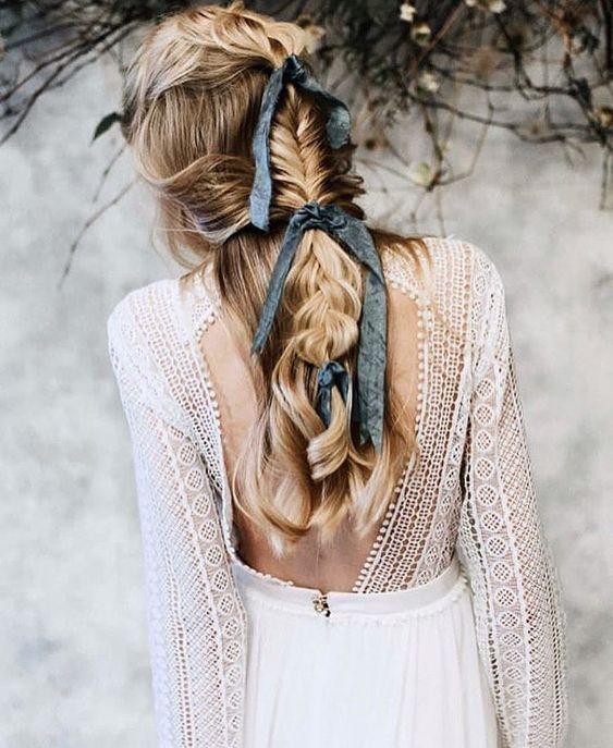 novia peinado lazo