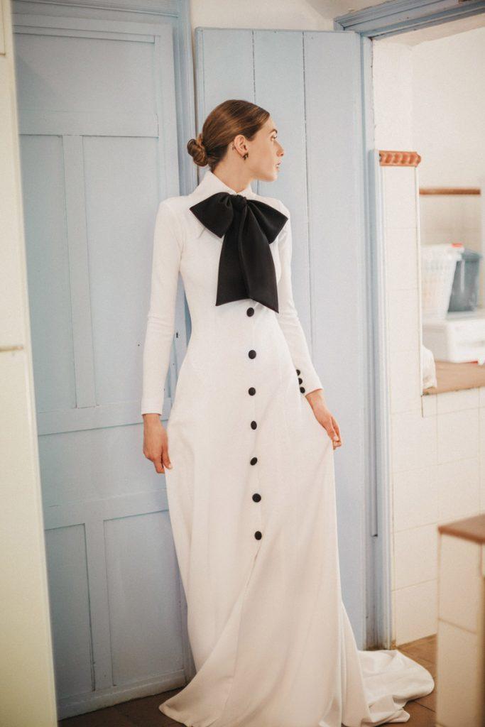 novia blanco y negro cherubina 2020
