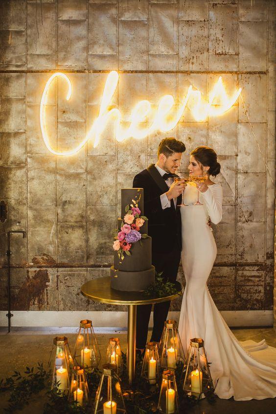 neon wedding 2020