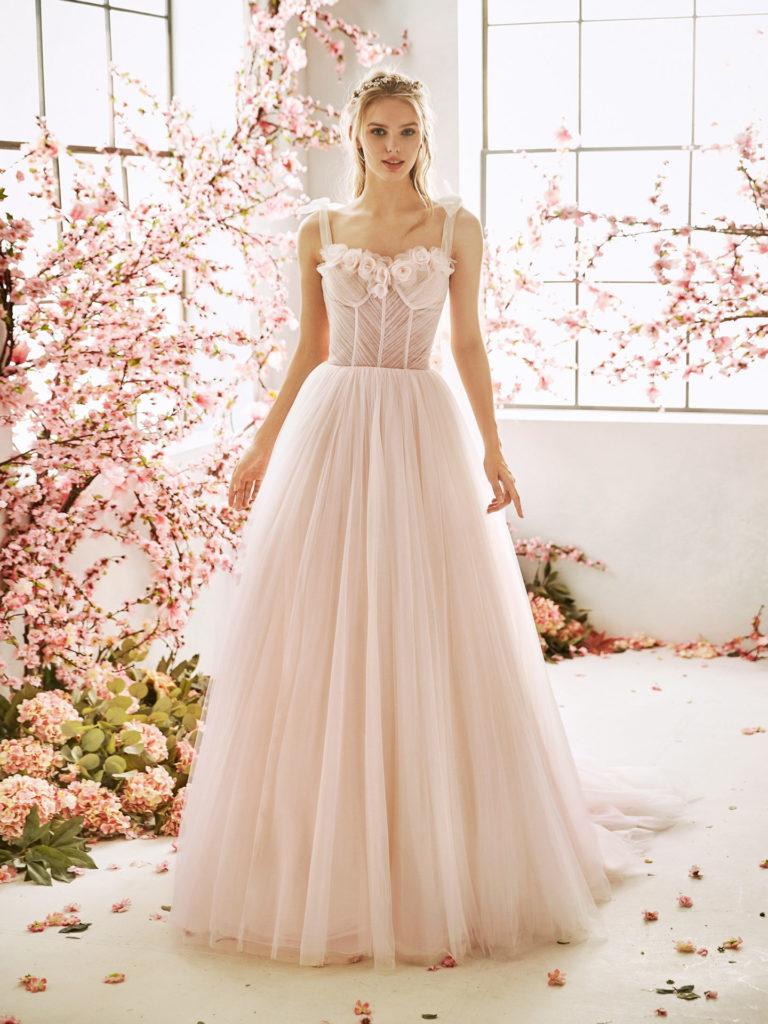 vestidos novia rosa