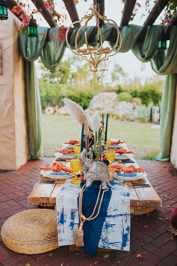 mesa boda classic blue