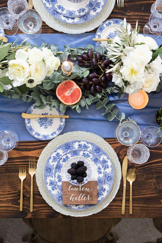 mesas bodas classic blue