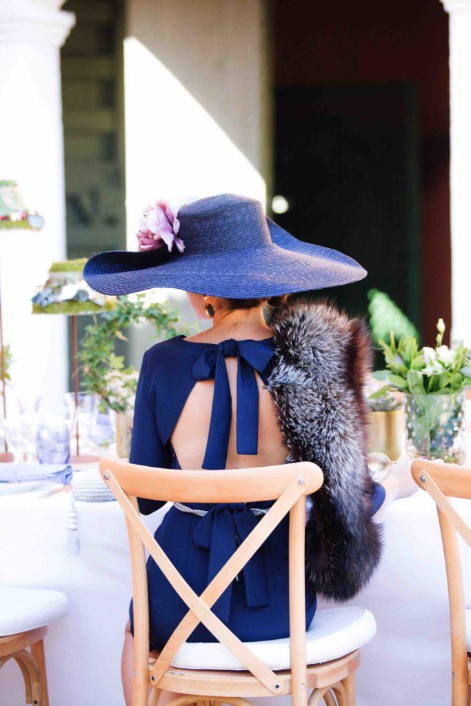 wedding guest classic blue