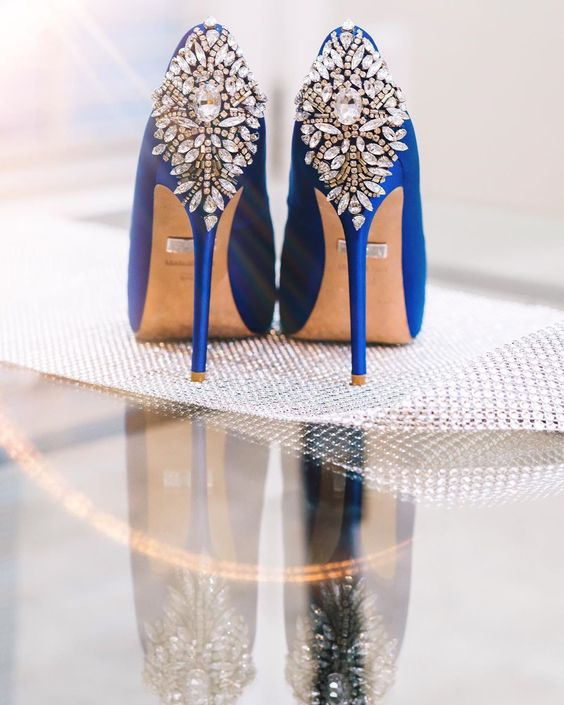 wedding shoes classic blue