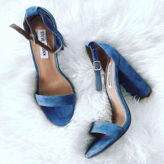 zapatos novia azules classic blue