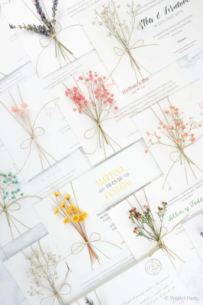 invitaciones con flores
