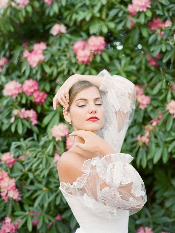 labios rojos para novias