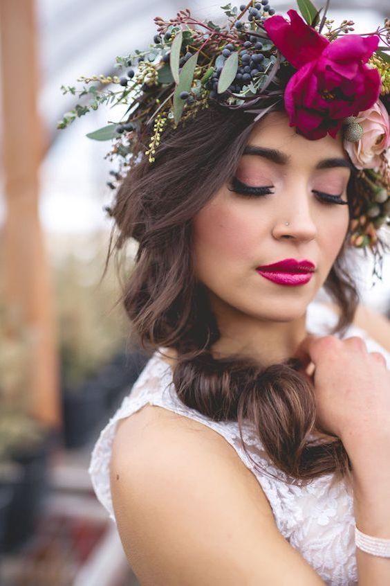 tutorial labios rojos novia