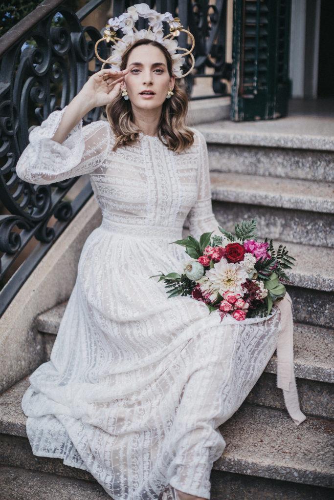 tocado vertical novia