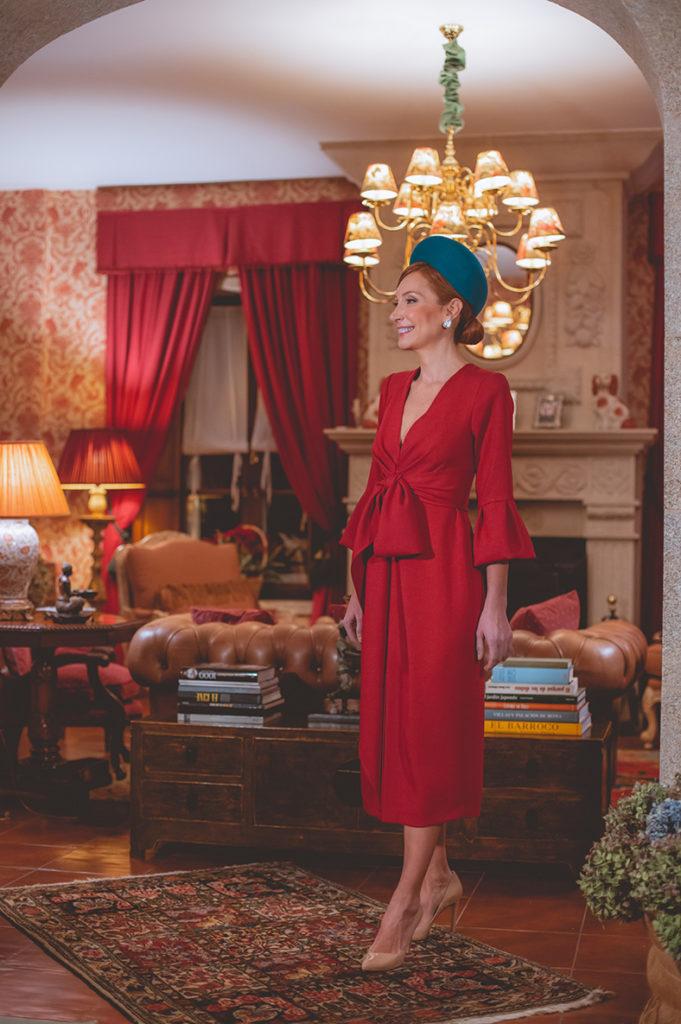 vestido rojo madrina de boda