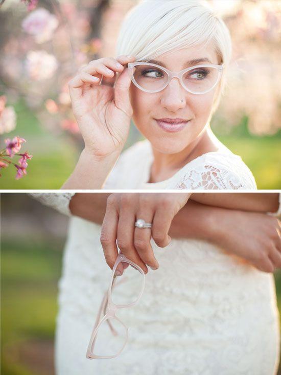 novias con gafas o lentillas