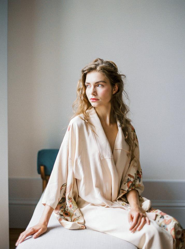 kimono vintage para novias
