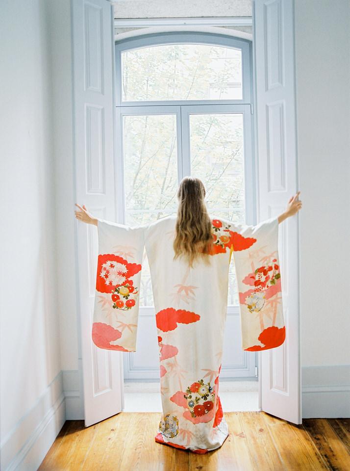 kimono japones original novia