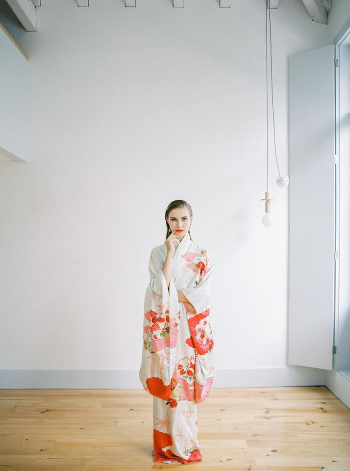 kimono largo novia
