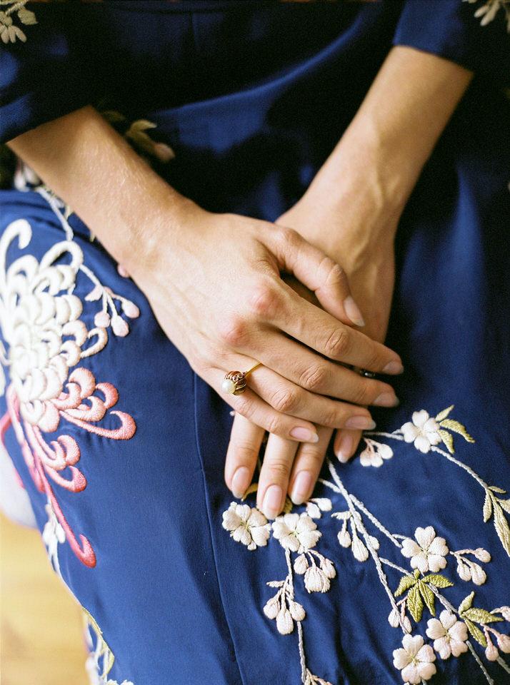 kimono bordado
