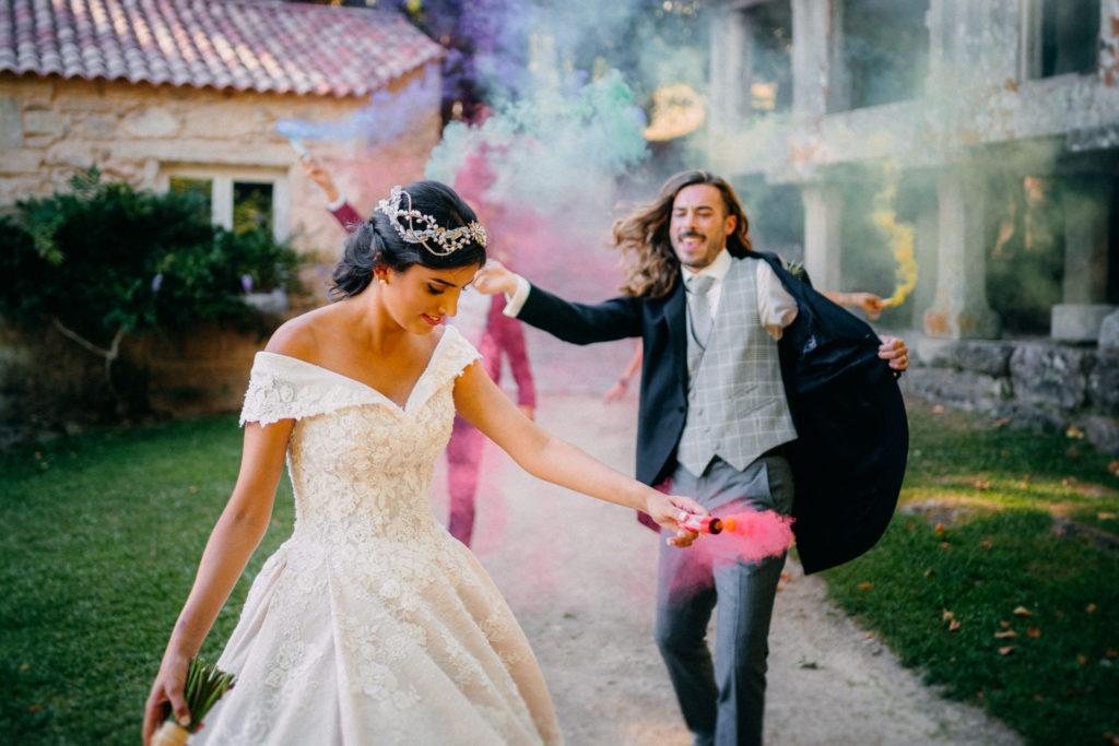 bengalas de colores boda