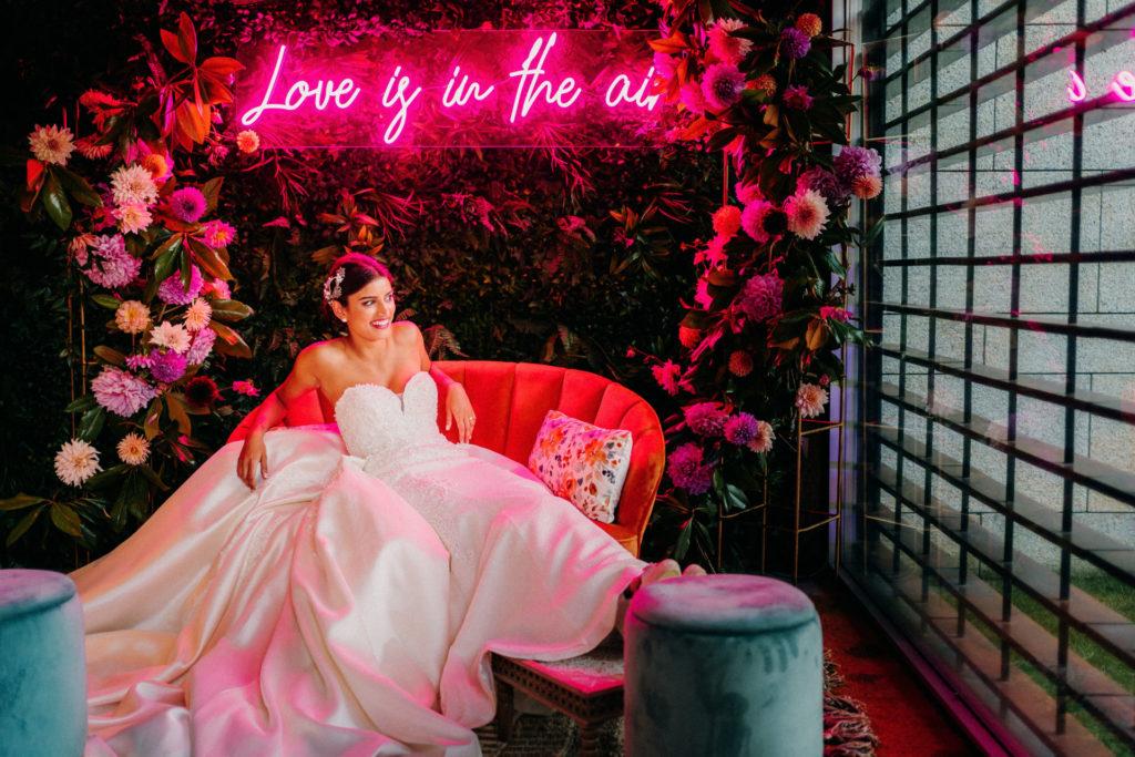 neon para bodas