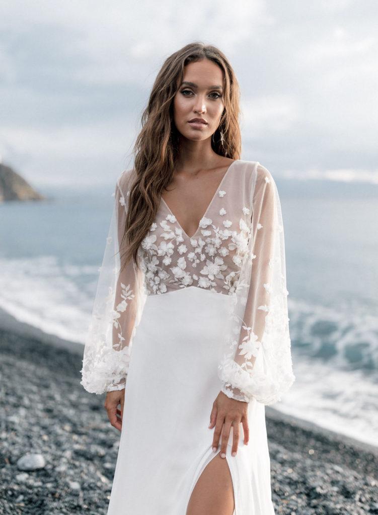vestidos de novia aire parisino