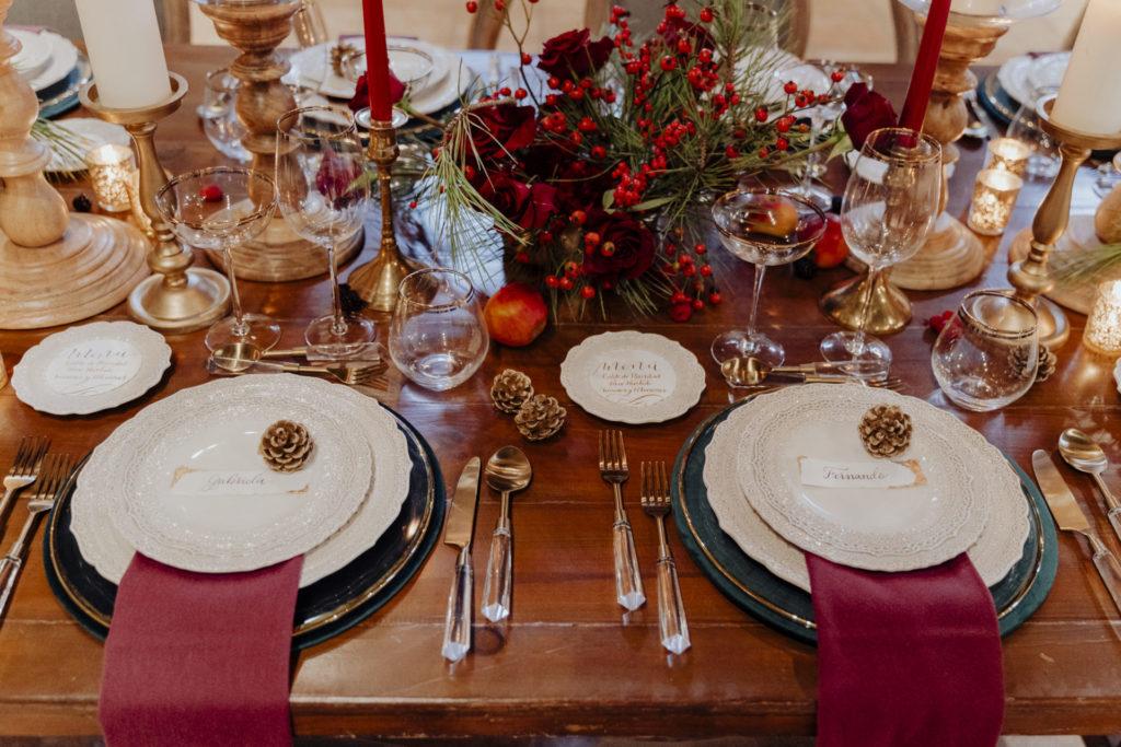 decoracion mesa boda navidad