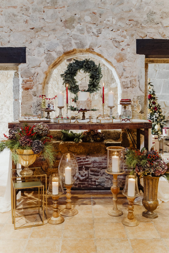 mesa dulce boda navidad