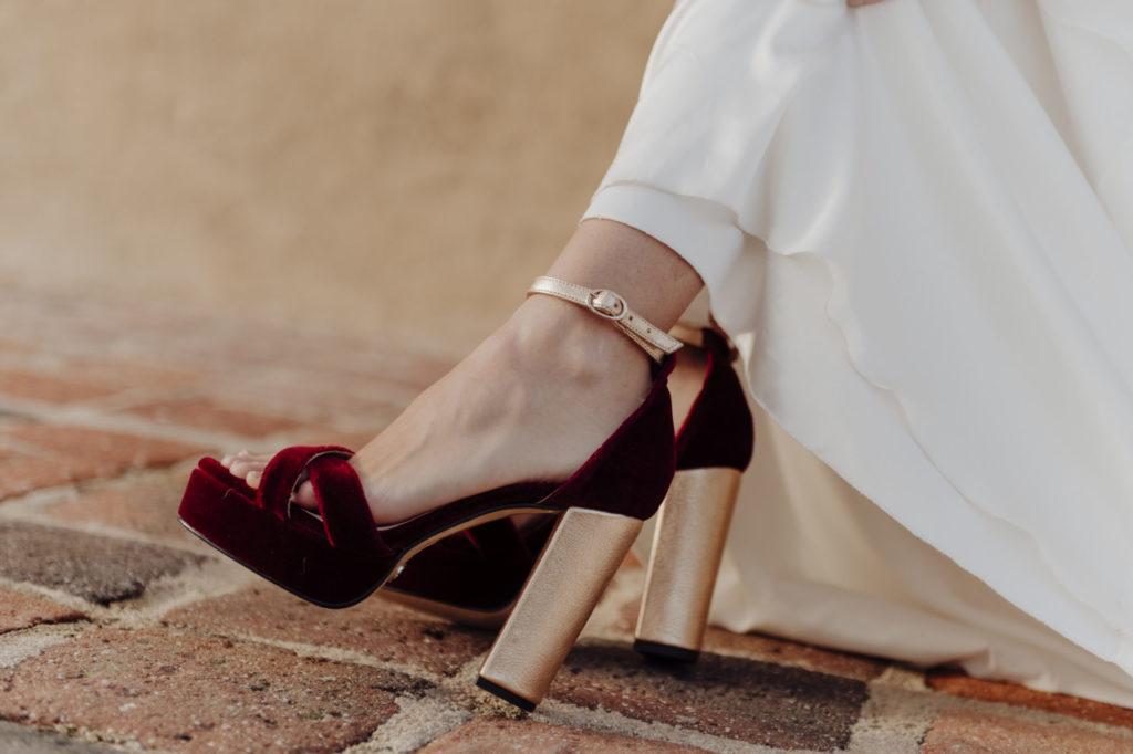 sandalias novia terciopelo