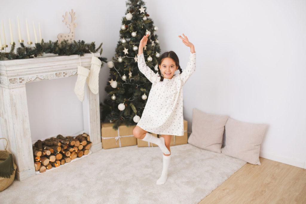 fotografia niña postura ballet
