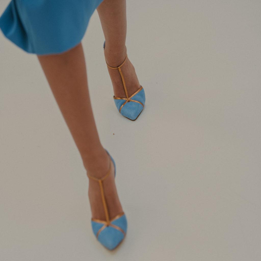 zapatos para novia azules